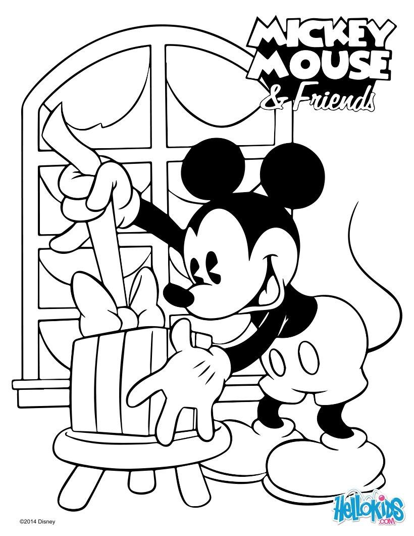 Desenhos Para Colorir De Mickey Natal Pt Hellokids Com