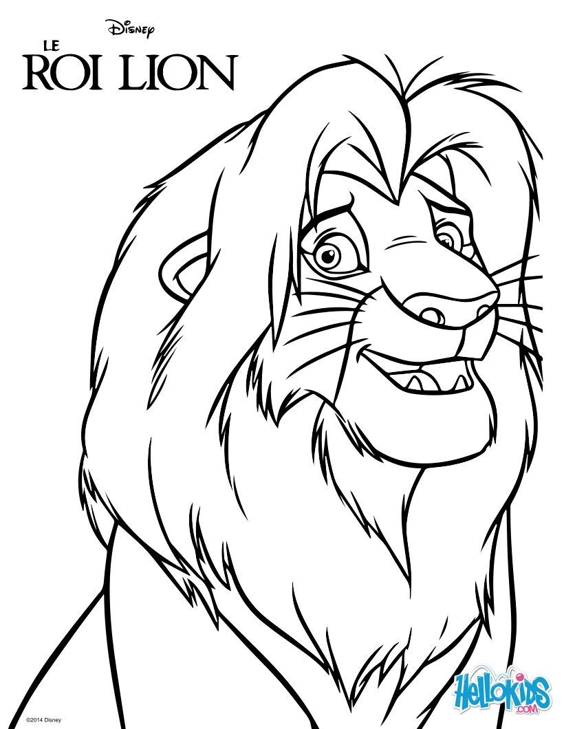 Desenhos Para Colorir De Simba O Rei Leo pthellokidscom