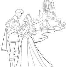 A Bela Adormecida, Aurora e seu príncipe
