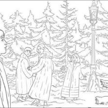 Pedro, Lúcia, Susana e Edmundo na floresta mágica