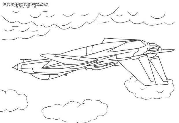 Colorindo o avião de guerra