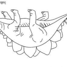 Desenho de um Estegossauro para colorir