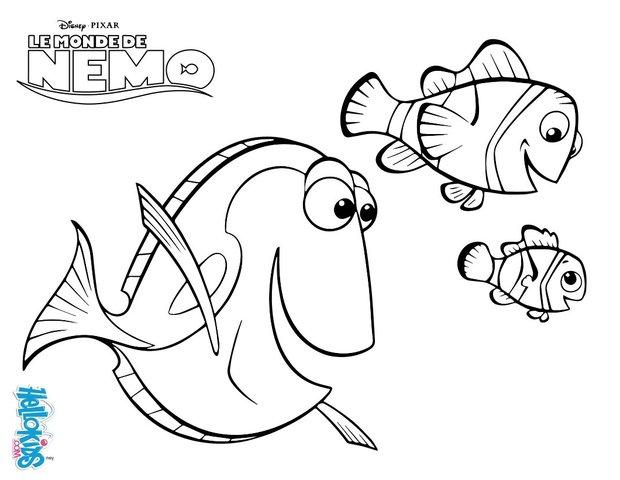 Desenhos Para Colorir De Marin Dory E Nemo Pt Hellokids Com