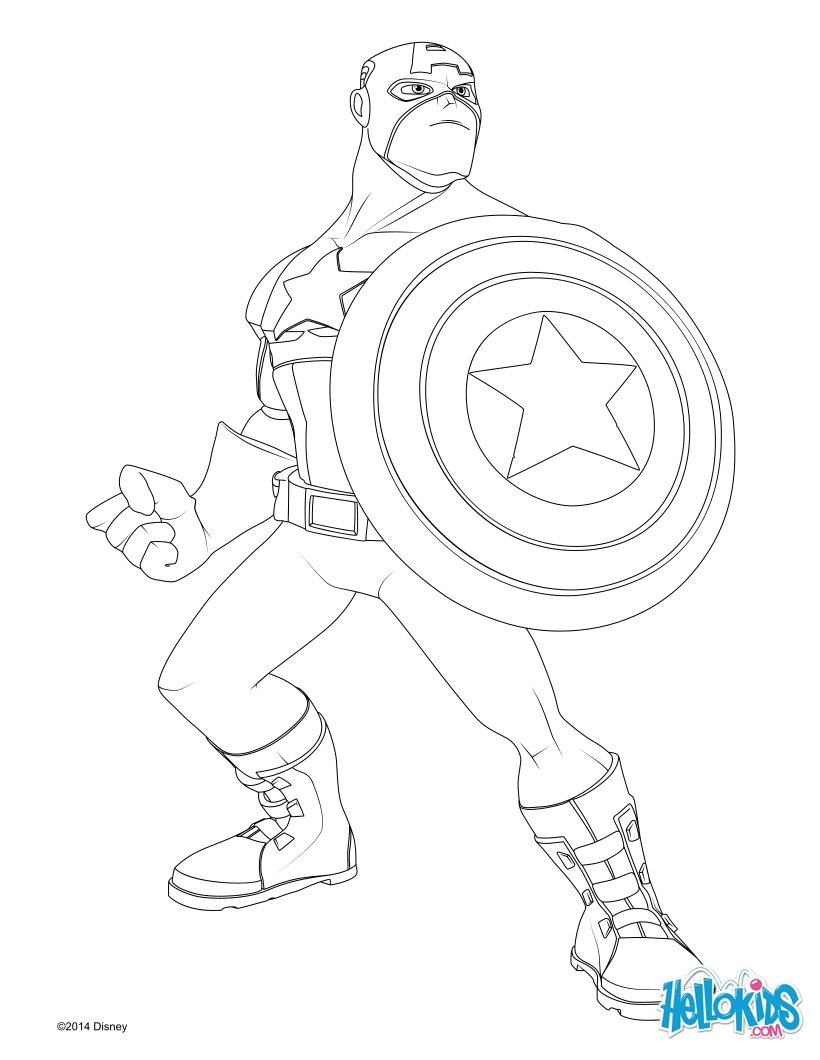 Desenhos Para Colorir De Capitao America Os Vingadores Pt