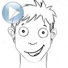 Desenhar expressões faciais: alegria