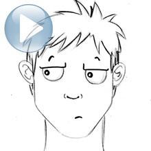 Desenhe uma expressão facial: a indiferença