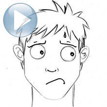 Desenhe uma expressão facial: ansiedade