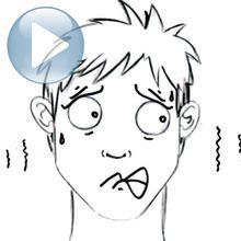 Desenhe uma expressão facial: o medo