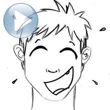 Desenhe uma expressão facial: o riso