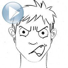 Desenhe uma expressão facial: raiva