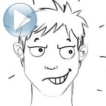 Desenhe uma expressão facial: sedução