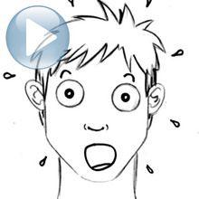 Desenhe uma expressão facial: surpresa