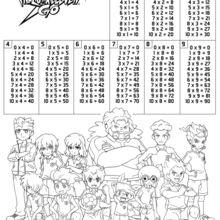 Tábua de multiplicar Inazuma Eleven