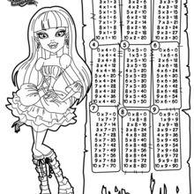 Tábua de multiplicar Monster Hight