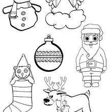 Desenhos de Natal para imprimir e cor