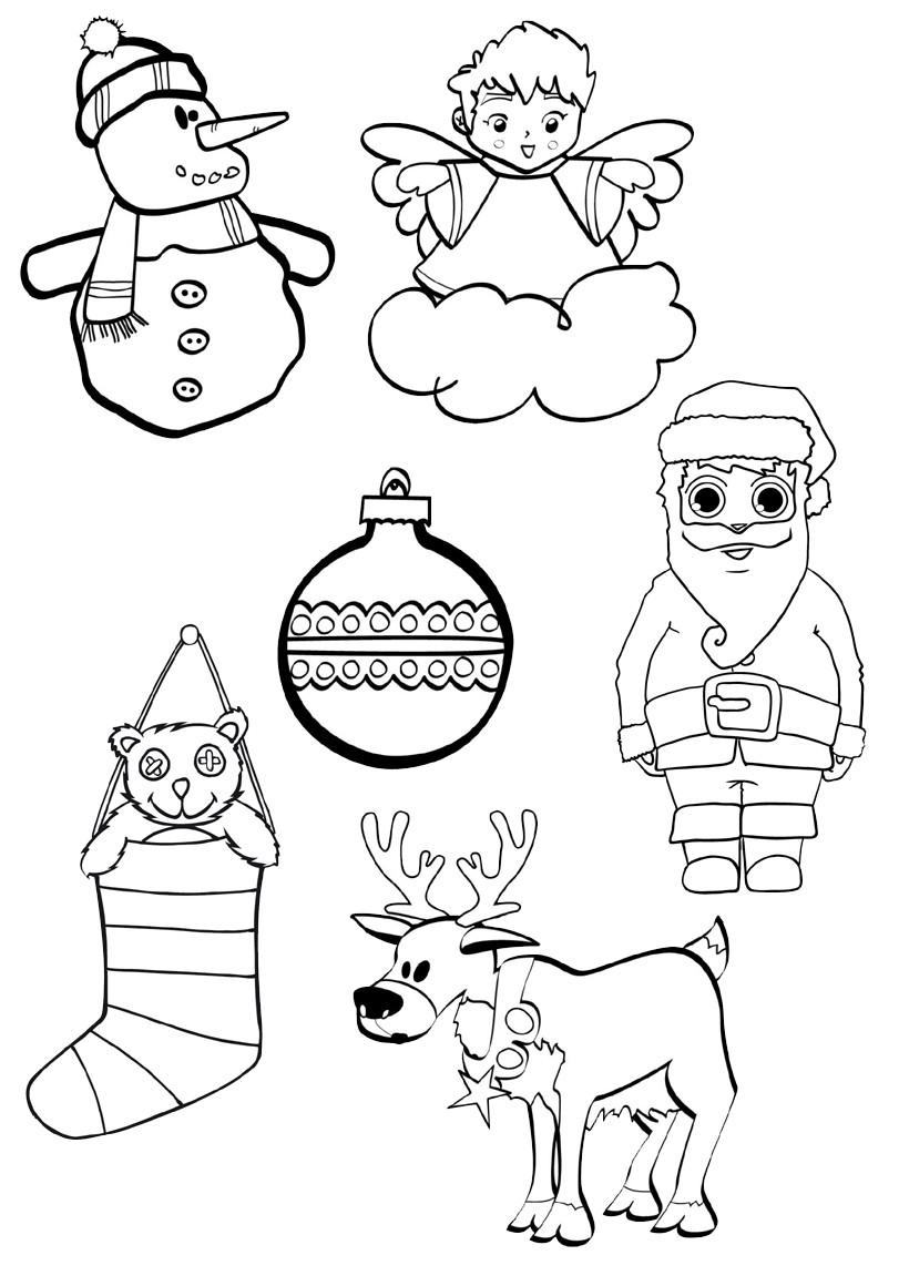 Desenhos Natal para Imprimir e cor