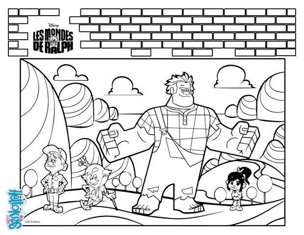 Desenhos para colorir de detona ralph - Dessin anime les mondes de ralph ...
