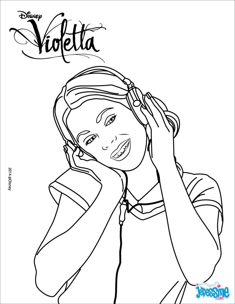 Desenhos Para Colorir De Violetta Ouvir Musica Pt Hellokids Com