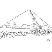 Desenho Pirâmide Torta de Snefru para colorir