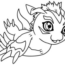 Desenho do Digimon Gomamon para colorir