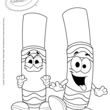 Dois marcadores Crayol