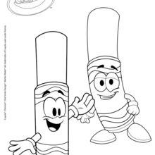 Marcadores Crayola feliz