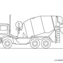 caminhão, Desenho de um Caminhao misturador de cimento para colorir