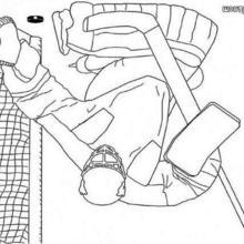 Desenho de um Goleiro de hóquei para colorir