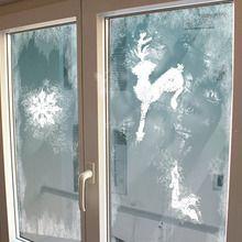 Stencils de Natal para decorar janelas