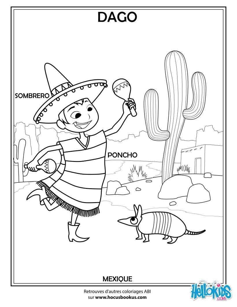 Desenhos para colorir de mexicano - Enfants coloriage ...