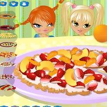 Executa uma pizza de frutas