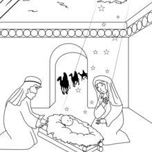 A chegada dos Reis Magos na manjedour