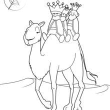 O Magi em seus camelos