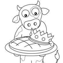 Uma vaca e seu galette des Reis