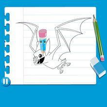 Vídeo de como desenhar um MORCEGO