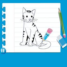 Video de como desenhar um GATO