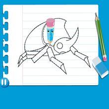 Vídeo de como desenhar um BESOURO