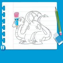 Vídeo de como desenhar um DRAGÃO