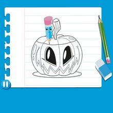 Video para aprender a desenhar uma ABÓBORA