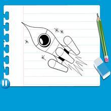 Vídeo Aula de como desenhar um FOGUETE