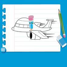 Vídeo aula de como desenhar um AVIÃO