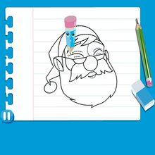 Vídeo de  como desenhar o PAPAI NOEL