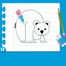 Vídeo de como desenhar um URSO