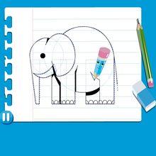 Vídeo de como desenhar um ELEFANTE