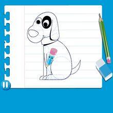 Vídeo de como desenhar um CÃO