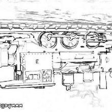 mamãe, Desenho de um trem a vapor para colorir