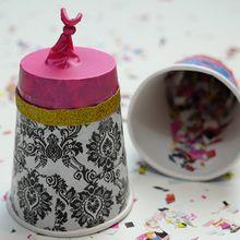 Um canhão de confete