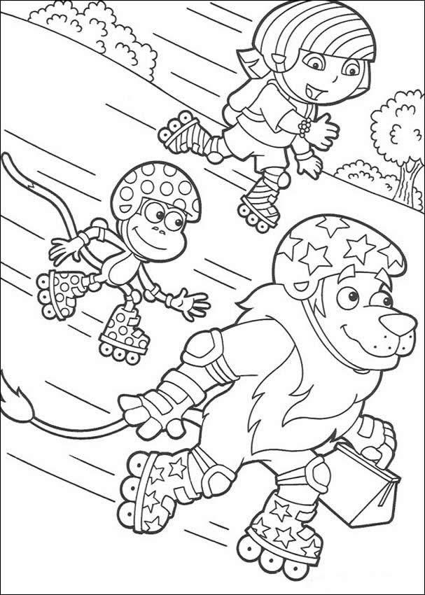páginas para colorir dora a aventureira desenhos para colorir