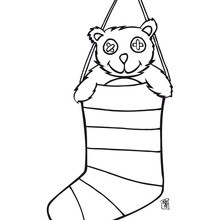Desenho de meias de Natal para para colorir de graça