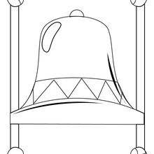 Desenho de para colorir de um sino da Páscoa